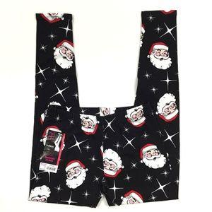 Christmas Santa Face Ankle Length Leggings Jr S